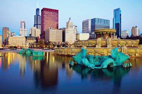 גורדי שחקים ופארקים ירוקים. שיקגו  (צילום: Shutterstock)