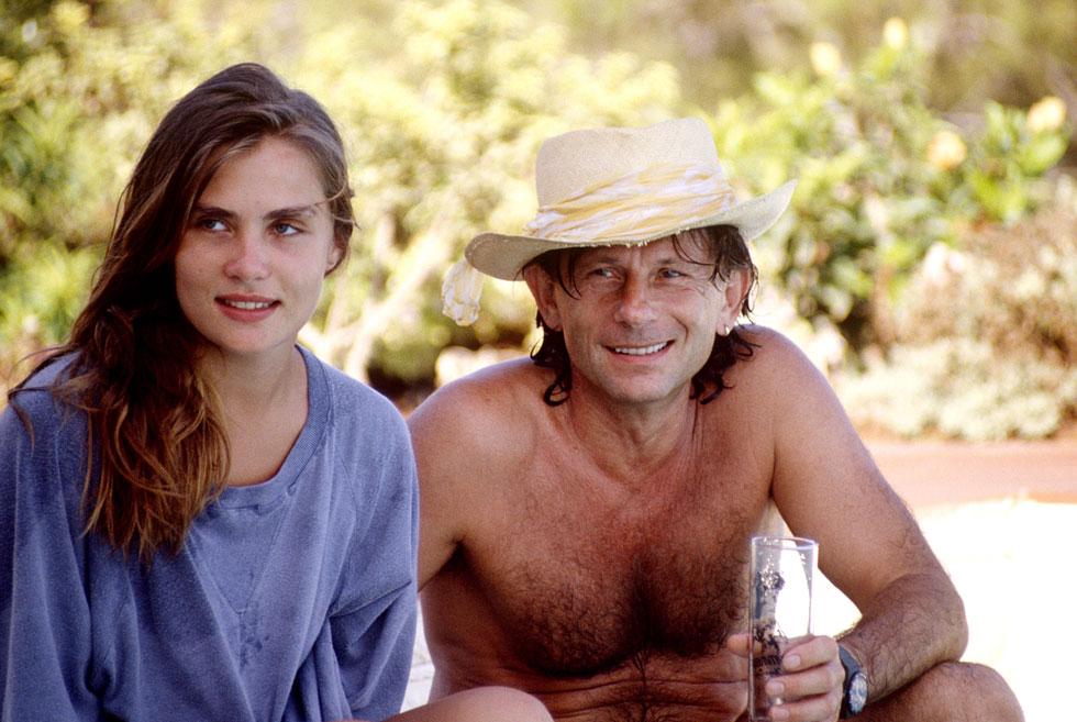 עמנואל סנייה עם רומן פולנסקי, 1989. נישואים יציבים לאורך 30 שנה (צילום: rex/asap creative)