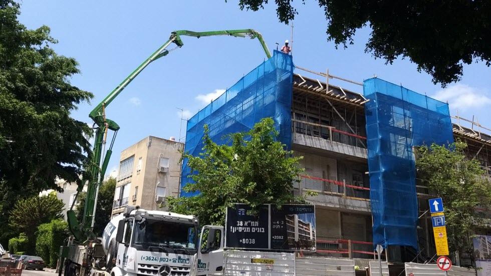 """מאז תחילתה נתקלה תכנית תמ""""א 38 בלא מעט בעיות (צילום: באדיבות החברה לחיזוק מבנים)"""