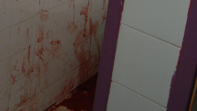 עקבות הדם בזירת הרצח  ()