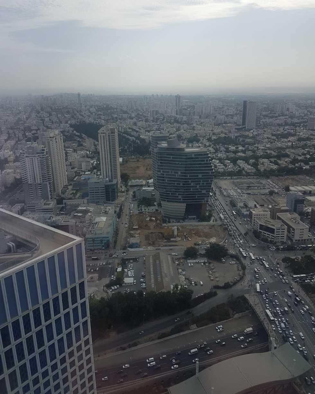 צילום מגדל TOHA ואתר הבנייה להקמת מגדל TOHA2 (צילום: שלומית צור)
