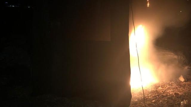 Military tent set ablaze by settlers in Yitzhar