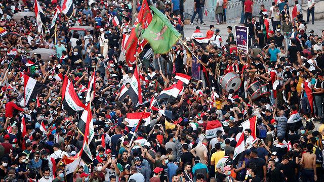 עיראק הפגנות (צילום: רויטרס)