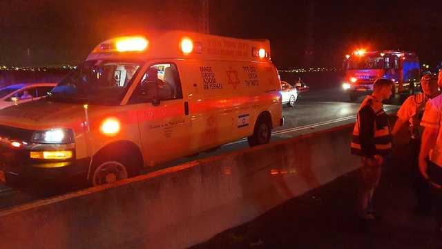 תאונה בצומת יאסיף שבכביש 85 (צילום: אדיר אדרי, תיעוד מבצעי מד