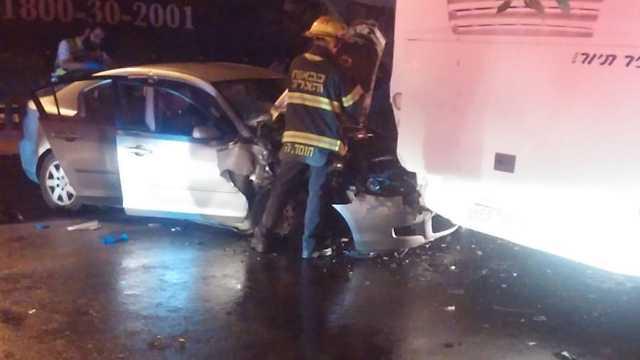 גבר נהרג בתאונה בבית שמש  (צילום: משה טובולסקי)