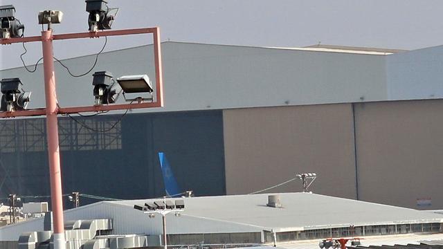 מטוסו של ראש הממשלה בהרצת מנועים בנתב