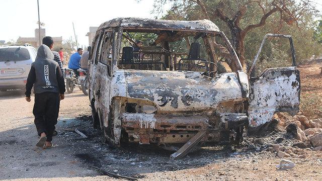 בתמונות של מקום החיסול בבוקר לכתוב – המתחם שבו חוסל מנהיג דאעש על פי דיווחים (צילום: MCT)