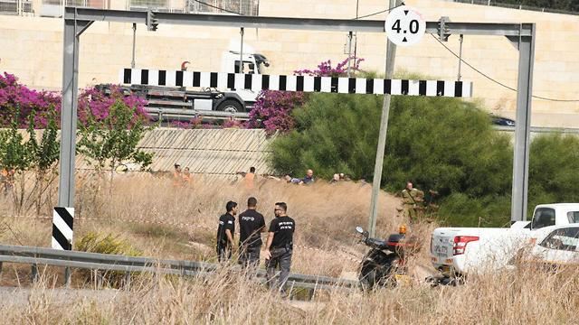 The location where the soldier's body was found (Photo: Yair Sagi)