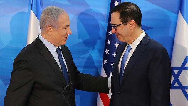 ראש הממשלה בנימין נתניהו פגישה עם שר האוצר של ארה