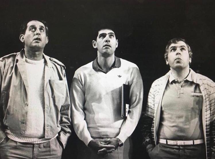 מליניאק עם פיני גרשון ורלף קליין ב-1984 (צילום ארכיון: יוסי רוט)