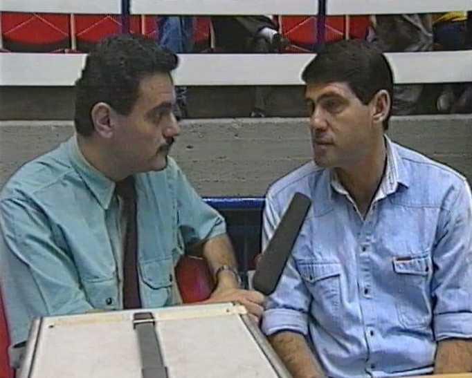 אורי לוי מראיין את מליניאק לערוץ 1 בשנות ה-80