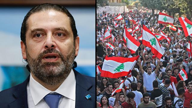 ראש ממשלת לבנון סעד אל חרירי מחאה מפגינים (צילום: רויטרס, AFP)