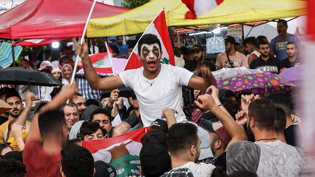 לבנון צידון הג'וקר ג'וקר הפגנות (צילום: AFP)