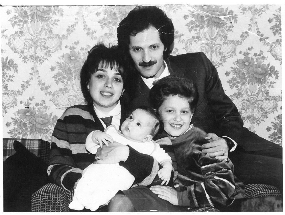 Марина с братом Вадимом, папой и мамой. Фото: семейный архив