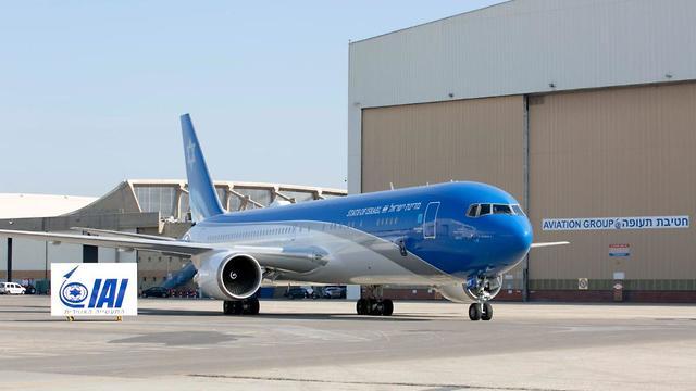 המטוס (צילום: אלון רון)