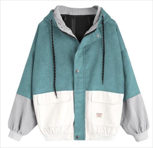 ואפשר גם: מעיל קורדרוי בצבעוניות קולור בלוק, 62.50 שקל  (צילום: מתוך aliexpress.com)