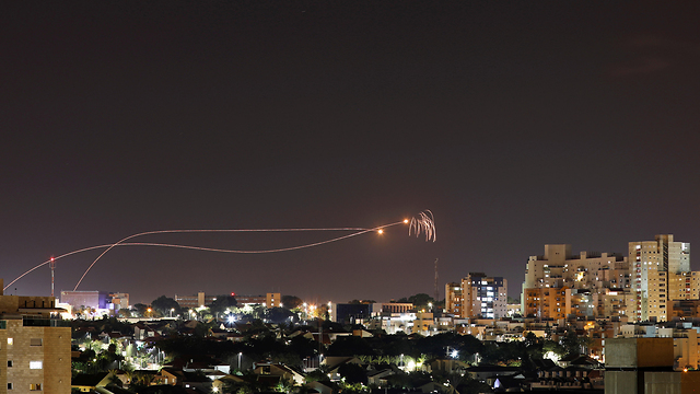 Iron Dome intercepts rockets over Israel (Photo: Reuters)