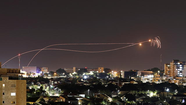 Rockets intercepted over Gaza on Friday night  (Photo: Reuters)