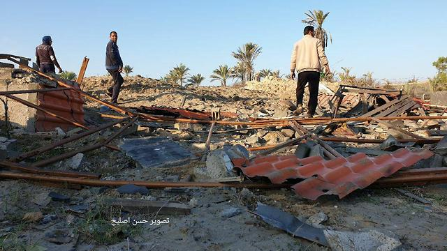 Damage from IDF strike on the Strip