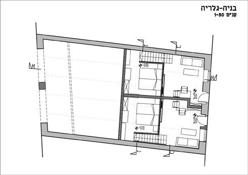 מפלס השינה (עיצוב פנים: משרד אדריכליות - אורלי עשת ויוליה קסלמן)
