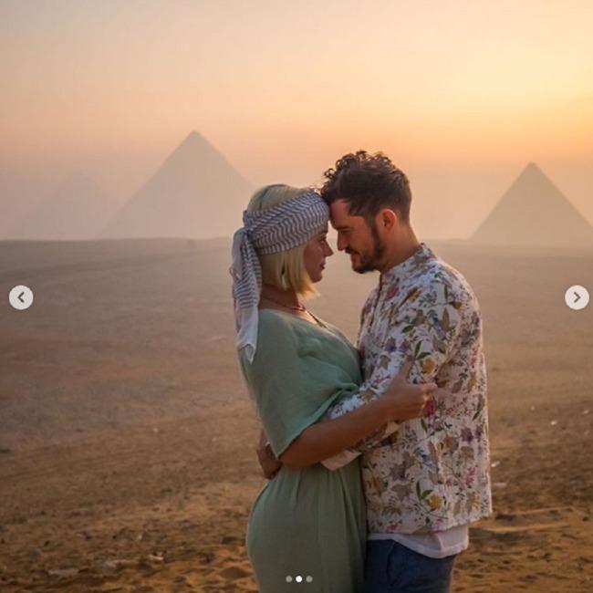 רומנטיקה במצרים. אורלנדו בלום  וקייטי פרי (צילום: אינסטגרם)