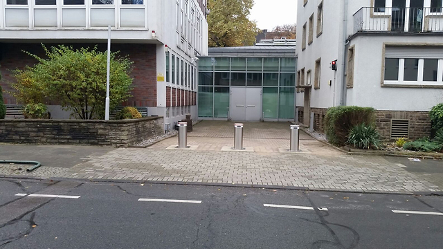 Barriers put up for protection in Germany