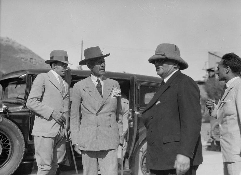 ימים של שיתופי פעולה בין יהודים וערבים: טקס הפתיחה עורר תקוות רבות. כעבור כ-15 שנה זה נגמר אחרת (צילום: Library of Congress, Prints & Photographs Division, LC-DIG-matpc-15244)