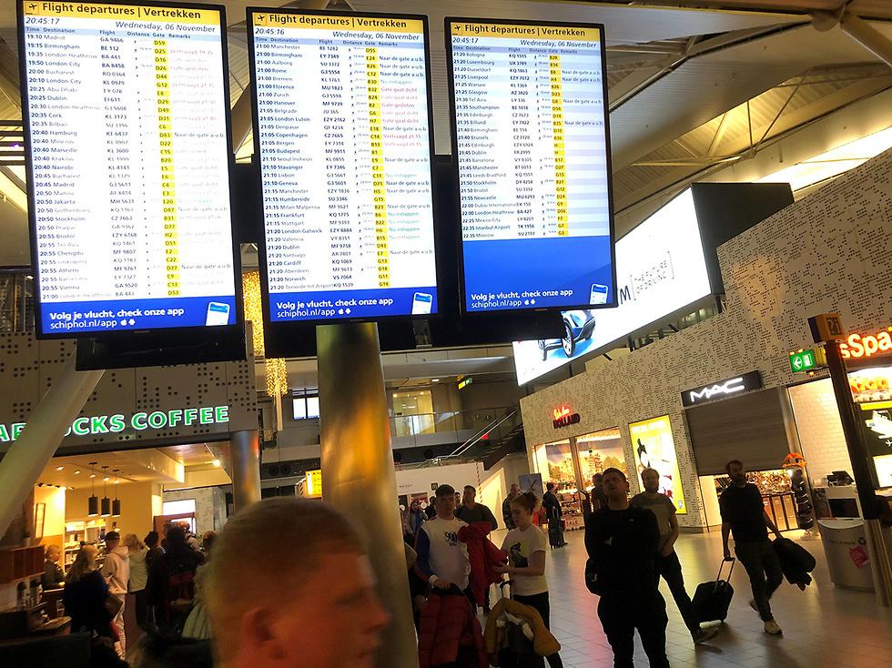 נמל תעופה סכיפהול הולנד (צילום: רויטרס)