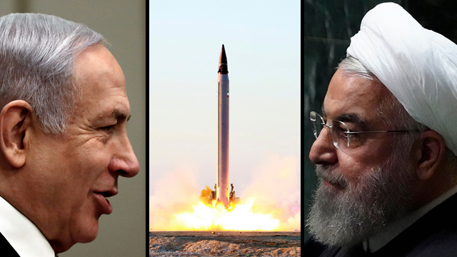 Prime Minister Benjamin Netanyahu and Iran's President Hassan Rouhani (Photo: Reuters, EPA, AP)