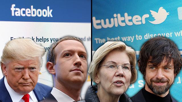 מארק צוקרברג, ג'ק דורסי, דונלד טראמפ ואליזבת וורן (צילום: shutterstock, סוכנויות הידיעות)
