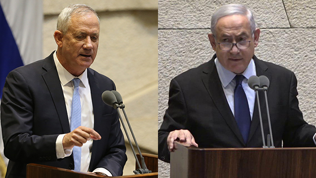 Gantz and Netanyahu (Photo: Amit Shabi)
