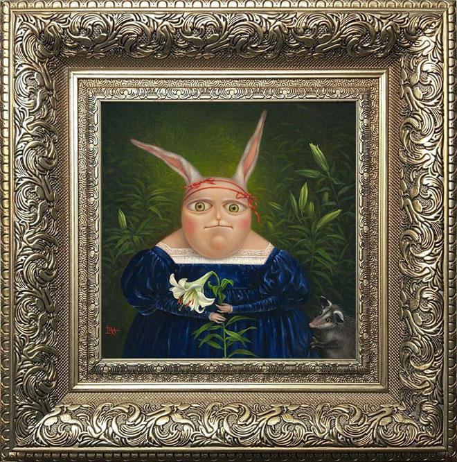 ציור של אירנה אייזן. גלריה ''פחות מאלף''