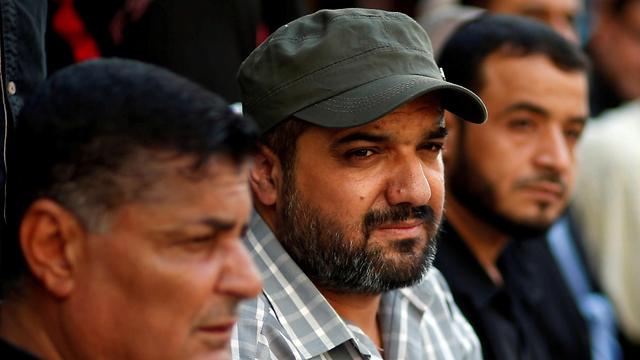 Islamic Jihad commander Baha Abu al-Atta, center (Photo: Reuters)