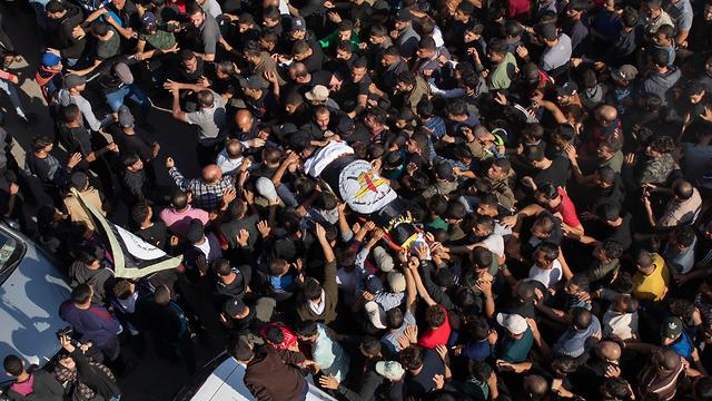 Funeral of Islamic Jihad commander Baha Abu al-Ata in Gaza (Photo: AP) (Photo: AP)