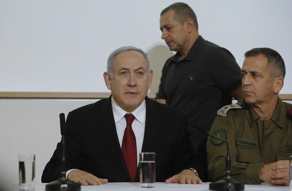 הצהרה נתניהו כוכבי וארגמן בעקבות המצב הביטחוני (צילום: AFP)