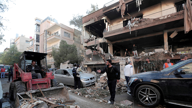 Alleged IDF strike in Syria last week which targeted Islamic Jihad leader (Photo: Reuters)
