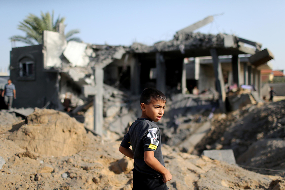 Damage sustained by IAF strikes on Islamic Jihad targets in Gaza (Photo: Reuters)