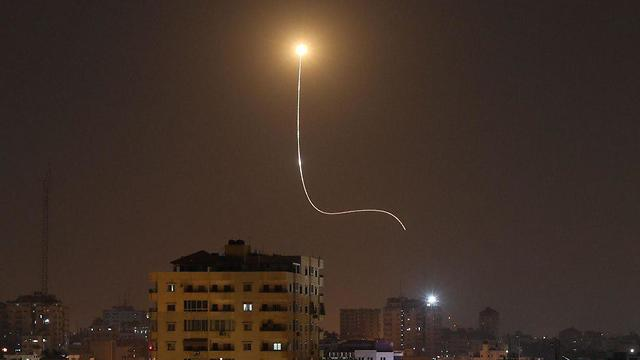 Iron Dome in action over southern Israel (Photo: AFP)