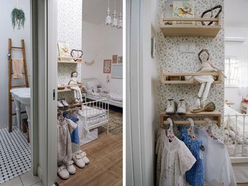 פינות בחדר הילדים ומבט לחדר האמבטיה (צילום: מורן מעין)