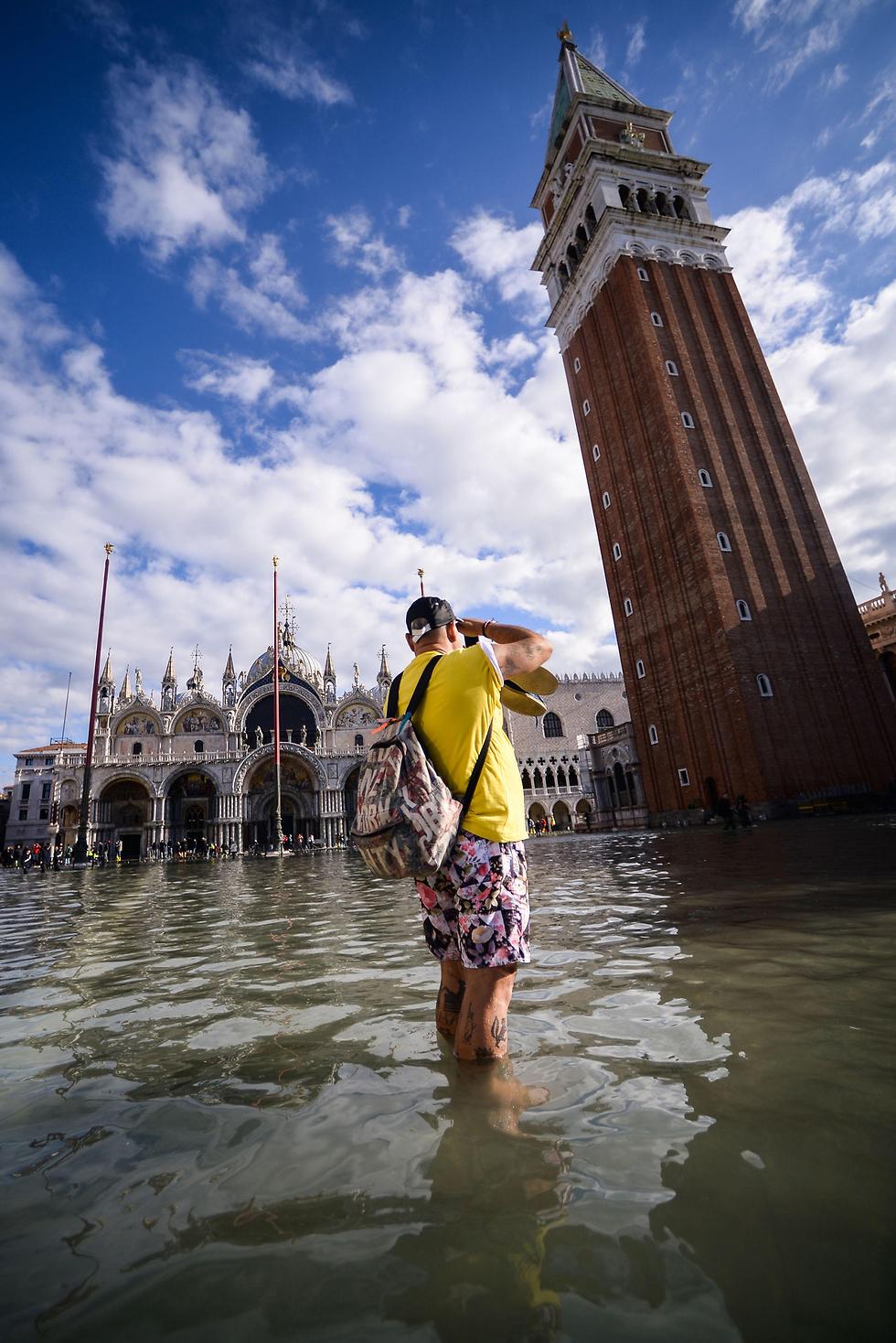 איטליה ונציה הצפה הצפות (צילום: AFP    )