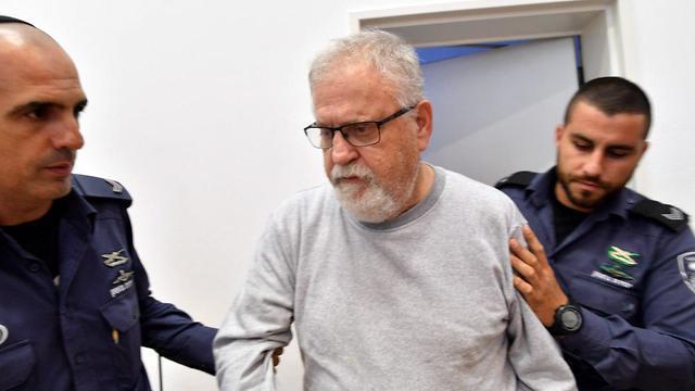 גיורא פראף בבית המשפט (צילום: חיים הורנשטיין)