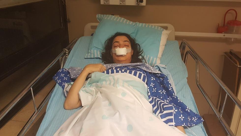 דנה זהרוני אחרי הניתוח להסרת הגידול (צילום: אלבום משפחתי)