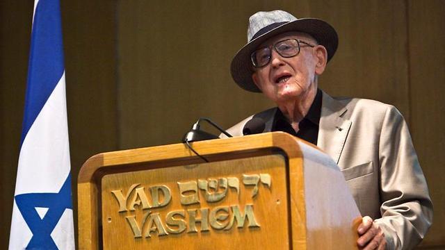 Branko Lustig at Yad Vashem  (Photo: Reuters)