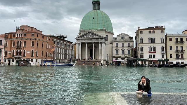 איטליה ונציה הצפה הצפות שיטפונות שיטפון  (צילום: gettyimages)