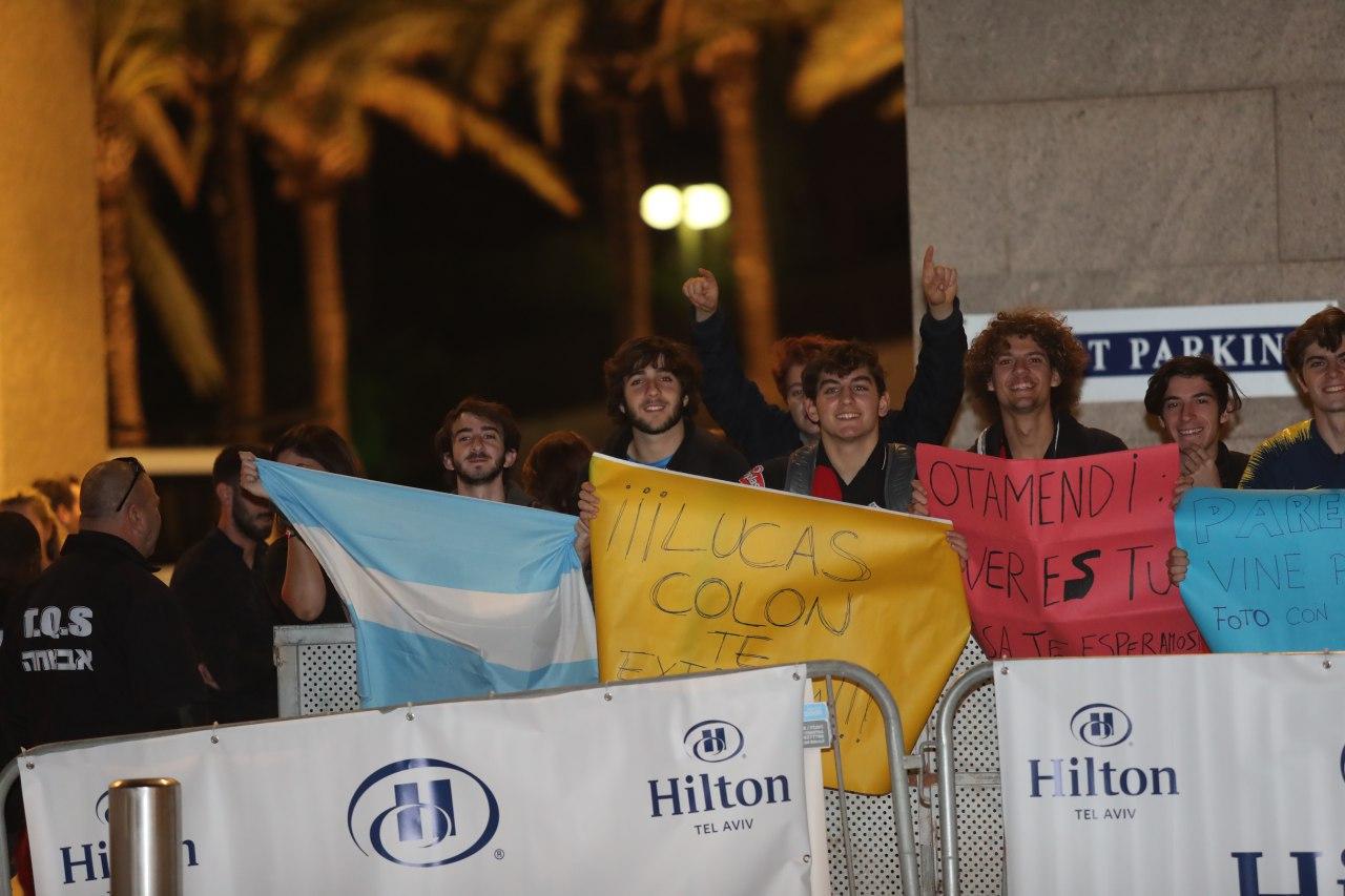 נבחרת ארגנטינה אוהדים (צילום: אורן אהרוני)