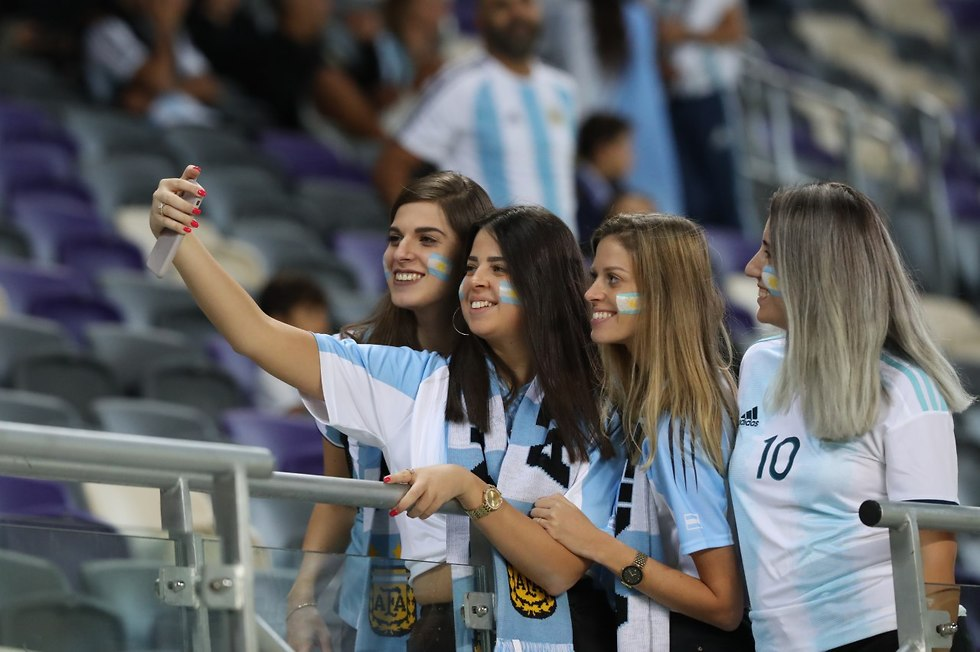 Argentina fans at Bloomfield (Photo: Oren Aharoni)
