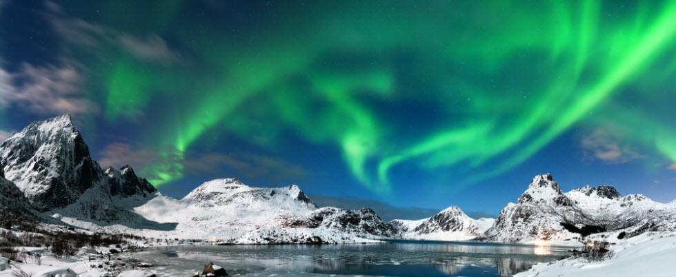 התנאים הכי טובים לראות את הזוהר הצפוני.  (צילום: Piotr Krzeslak)