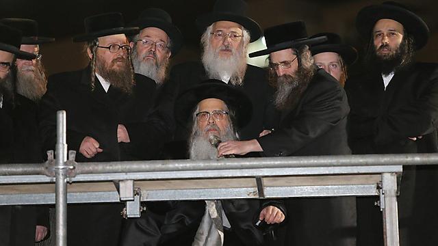 Визит сатмарского адмора в Израиль. Фото: Амит Шааби