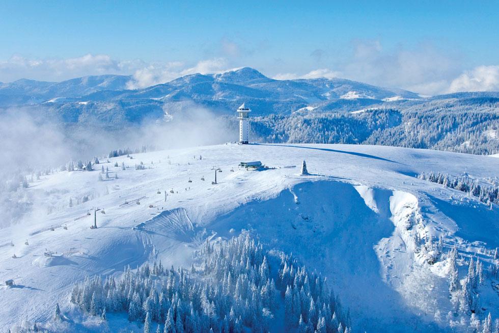 הר פלדברג (Feldberg Mountain). מוקד הפעילות החורפית ביער השחור  (צילום: Hochschwarzwald Tourismus Gmbh)
