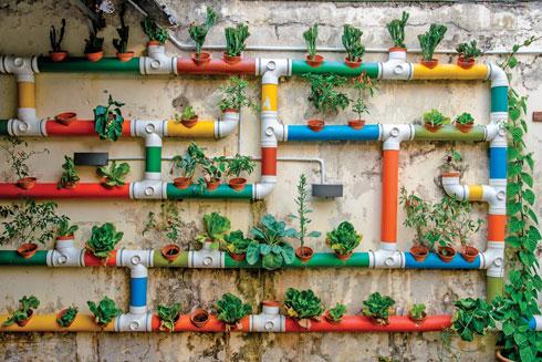 אם אתם רוצים לגדל ירקות, אחד הפתרונות הטובים הוא ההידרופוניקה – צינורות שהמים נעים בהם ללא הרף (צילום: shutterstock)